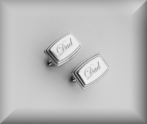 Stainless Steel Beveled Edge Cufflinks