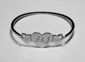 Stainless Steel Cut Out Heart Bracelet