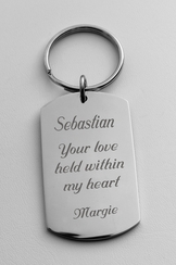 Stainless Steel Dog Tag Keychain