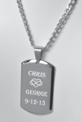 Stainless Steel Dog Tag Necklace