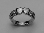 Stainless Steel Double Heart Ring