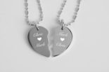 Mini Stainless Steel Broken Heart Necklace