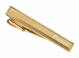 Stainless Steel Gold Beveled Tie Clip