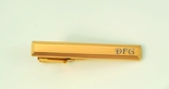 Stainless Steel Gold Filled Beveled Tie Clip