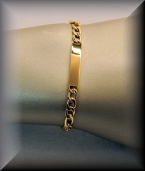 Stainless Steel Gold Plated Curb Bracelet