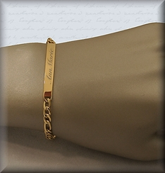 Stainless Steel Gold Plated Skinny Ladies Bracelet