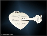 Stainless Steel Heart and  Key Necklace