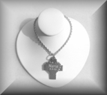 Stainless Steel Heart & Cross Pendant Necklace