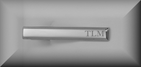 Stainless Steel Silver Beveled Tie Clip