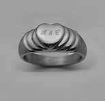 Stainless Steel Single Heart Ring