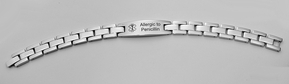 Stainless Steel Solid Link Medical ID Bracelet