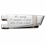 Stainless Steel & Sterling Silver Colibri Money Clip