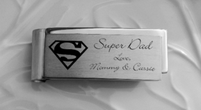 Stainless Steel Superman Money Clip