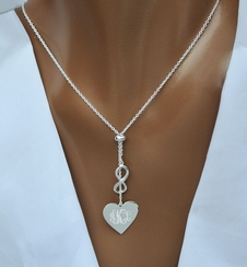 Sterling Silver Infinity Heart Charm Necklace