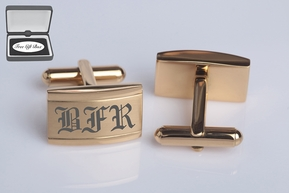 Gold Stainless Steel Cufflinks