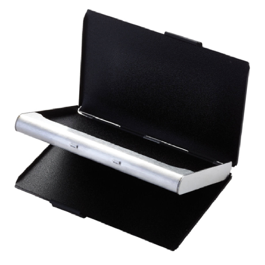 Two tone double sided business card holder engraved business card case two tone double sided business card holder colourmoves