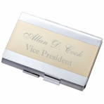 Two Tone Double Sided Business Card Holder