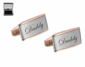 Two Tone Rose Gold Silver Cufflinks