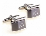 Two Tone Silver and Gunmetal Cufflinks