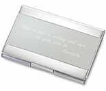 Two Tone Silver Business Card Holder