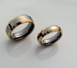 Two Tone Silver & Gold Ring Set