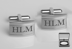 Two Tone Stainless Steel Cufflinks