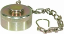 "1-1/2"" NPT Coupler Steel Dust Cap w/Chain, Buyers QDDC241"