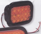 "15 LED Amber, 5-1/3"" Rectangular, Turn, Park Light, Buyers 5625215"