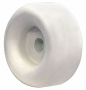 "2 1/2"" White Round Rubber Bumper, Buyers B1025"