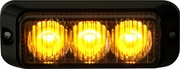 "3"" LED Surface Mount Strobe Light, Amber, Buyers 8891120"