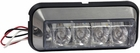 "4 LED Amber  Strobe Light, 4-7/8"" Rectangular, Buyers 8891104"