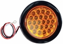"4"" Round Amber Strobe Light, 6 Flash, Recessed, 12-24 vdc,  Buyers SL40AR"