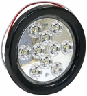 "4"" Round Backup Light, 10 LED Clear Buyers 5624310"