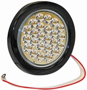 "4"" Round Backup Light, 24 LED Clear, Dot  & SAE, Buyers  5624324"