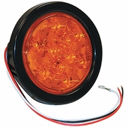 "4"" Round Turn & Park Light, 10 LED Amber, Buyers 5624210"