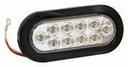 "6-1/2"" Oval Backup Light, 10 LED Clear, Buyers 5626310"