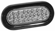 "6-1/2"" Oval Clear Strobe Light, 6 Flash, 12-24vdc, Recessed, Buyers  SL65CO"