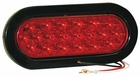"6-1/2"" Oval Stop-Turn-Tail Light, 20 LED Red, Buyers 5626520"