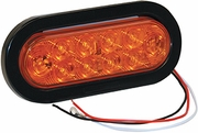 "6-1/2"" Oval Turn & Park Light, 10 LED Amber, Buyers 5626210"