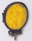 "6 LED Amber Quad Flash 4"" Round Strobe, Buyers 8891015"