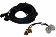 Amber LED Strobe Lights (snap-in) w/ 2 In-Line Flashers and 25' Cable, Buyers 8891326