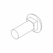 Boss Bolt, Carriage, 3/8-16X1, ST/ST 18-8, P/N HDW18163