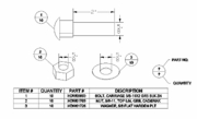 "Boss Cutting Edge Bolt Kit, 5/8"" (10) Boss OEM Boss BAX00096"