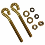 "Boss Eye Bolt Kit,1/2 x 5-1/4"" Spade (2) w/Nuts, P/N HDW01744"