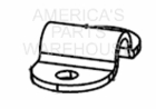 Bracket, Cover Latch, Stainless Steel, P/N 3006968