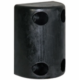 """Buyers Products B1025 2-1//2/""""  White Round Rubber Bumper"""