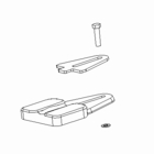 Bumper Stop Kit with Hardware, Boss P/N MSC04254
