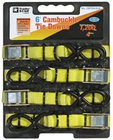 "Cambuckle Tie Downs 1"" x 6'  (4-pack) 1,200 lbs. 400 lbs. Buyers CBTD41612"