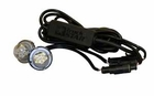 Clear LED Strobe Lights w/ 2 In-Line Flashers and 25' Cable, Buyers 8891225