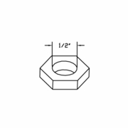 Coil Nut, Solenoid Valve Use with HYD01637 / 07029, Boss HYD07059